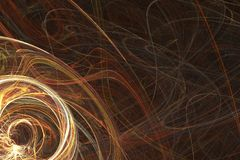 Abstract fractal background of colorful waves. On dark background Royalty Free Stock Images