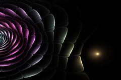 Abstract fractal background of colorful waves. On dark background Stock Photos