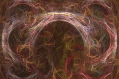 Abstract fractal background of colorful waves Royalty Free Stock Image
