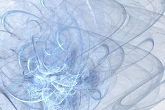 Abstract fractal background of colorful waves. On light background Royalty Free Stock Photography