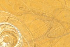 Abstract fractal background of colorful waves. On orange background Royalty Free Stock Images