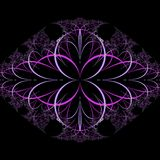 Abstract fractal background. A computer-generated 2D illustration Stock Image