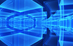 Abstract fractal background. A computer-generated 3D illustration Royalty Free Stock Images