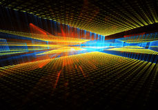 Abstract fractal background. Computer generated abstract modern image. Three-dimensional fractal texture Stock Illustration