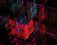 Abstract fractal background. Computer generated abstract modern image. Three-dimensional fractal texture Royalty Free Illustration