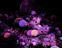 Abstract fractal background for creative design Stock Photography