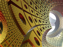 Abstract fractal background. Fractal 3D background, the city of the future Vector Illustration