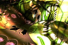 Abstract fractal background. 3d rendering Royalty Free Stock Image
