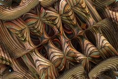 Abstract fractal background. 3d rendering Stock Images