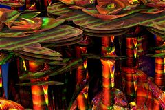 Abstract fractal background. 3d rendering Royalty Free Stock Photos