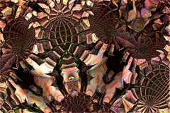 Abstract fractal background. 3d rendering Royalty Free Stock Photography