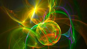 Abstract fractal background 3d rendering animation. Seamless loop.  Royalty Free Stock Photography