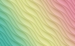 Gradient green yellow pink diagonal curves lines abstract background design Royalty Free Stock Image