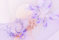 Abstract fractal background, flowers Stock Images