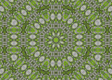 Abstract fractal background  - green leaves Stock Images