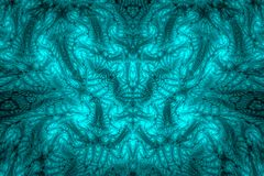 Abstract fractal background. Highly detailed background in cyan and blue tones with elements of spirals, lines and patterns. For y. Our creative design Stock Photos