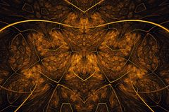 Abstract fractal background. Highly detailed background in orange tones with elements of spirals, lines and patterns. For your cre. Ative design stock illustration