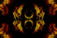 Abstract Fractal background. Made with flame pictures i shot Royalty Free Stock Images