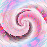 Abstract fractal background with pink vortex and blue rays. Rotating swirling spiral background creating an illusion of movement. 3d illustration Royalty Free Stock Image