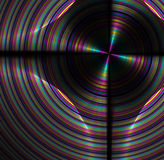 Abstract fractal background with rainbow disk texture Royalty Free Stock Photo