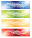 Abstract fractal background set Royalty Free Stock Image