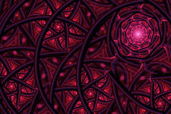 Abstract fractal background, spiral. Abstract fractal background a computer-generated 2D illustration,spiral, flower Stock Illustration