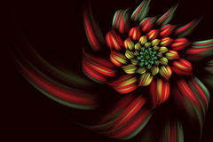 Abstract fractal background, spiral, flower. Abstract fractal background a computer-generated 2D illustration, spiral, flower Royalty Free Illustration