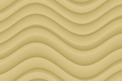 Modern horizontal tan taupe abstract wavy curves wallpaper background Stock Photos