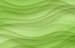 Overlapping lime green soft layered curves abstract wallpaper background Stock Photography