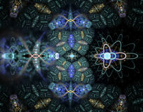 Abstract fractal beeld stock illustratie