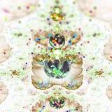 Abstract fractal bloemgebied met bokeh Stock Afbeeldingen