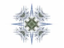 Abstract fractal blue with gray pattern Stock Image