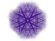 Abstract fractal with a blue pattern Royalty Free Stock Photography