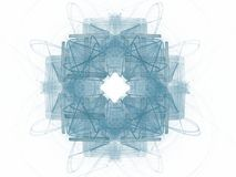Abstract fractal with a blue pattern. On a white background vector illustration