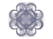 Abstract fractal with a blue pattern. On a white background stock illustration