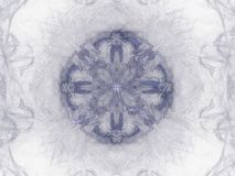 Abstract fractal with a blue pattern. On a white background royalty free illustration
