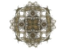 Abstract fractal with a brown pattern Stock Photo