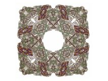 Abstract fractal with a brown pattern. On a white background Royalty Free Stock Photo