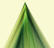 Abstract fractal Christmas, new year , fir-tree. Computer generated fractal illustration of fir-tree in green colors, decoration on black background Stock Photo