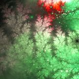 Abstract fractal christmas tree branches. Digital artwork for creative graphic design Royalty Free Stock Photo