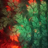 Abstract fractal christmas tree. Digital artwork for creative graphic design Stock Image