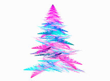 Abstract fractal Christmas tree with white backgound Stock Photography