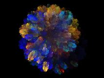Abstract fractal with colorful blue floral pattern Royalty Free Stock Photos