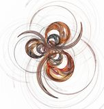 Abstract fractal colorful circles and curves on white Stock Photos