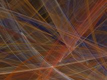 Abstract fractal with colorful curved lines and waves. On a black background Royalty Free Stock Photo