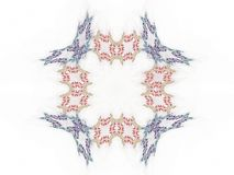 Abstract fractal with colorful pattern. On white background vector illustration