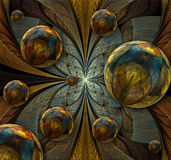 Abstract fractal composition royalty free illustration