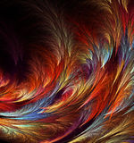 Abstract fractal computer-generated image. background with the of multi-colored feathers Royalty Free Stock Images