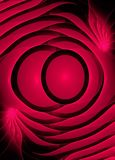Abstract fractal computer generated image. In red shades Stock Image