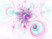 Abstract fractal curve, spiral pattern Stock Photo